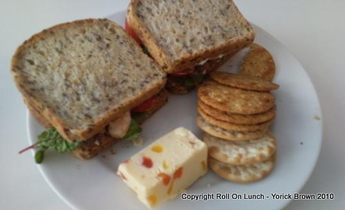 Prawns, avocado & rocket on soya & linseed bread
