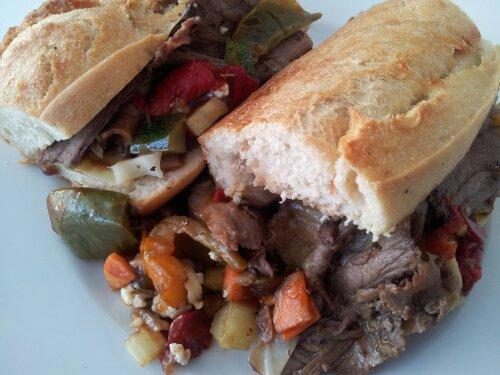 Italian beef sub