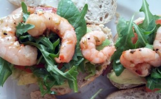 Prawn avocado & rocket on sourdough