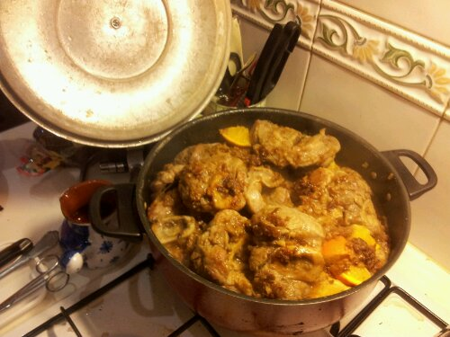 Ossobuco cooking